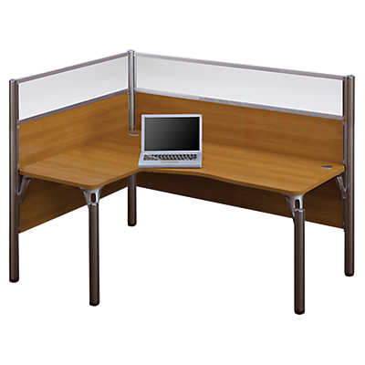 Picture of Pro Biz L-Shaped Desk with Privacy Glass, Left-Hand by Bestar