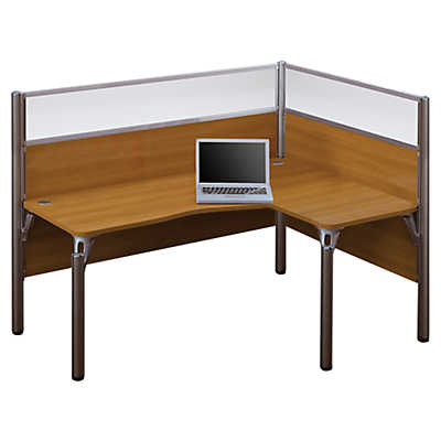 Picture of Professional Collection L-Shaped Desk with Privacy Glass, Right-Hand