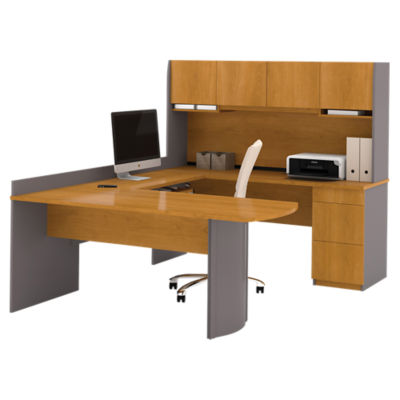 Picture of Perspective U-Shaped Desk with Hutch by Bestar