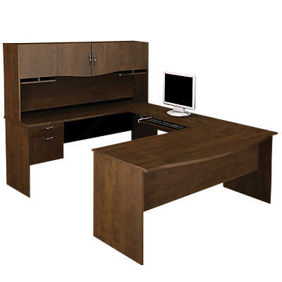 Picture of Oxford U-Shaped Desk with Hutch by Smart Furniture
