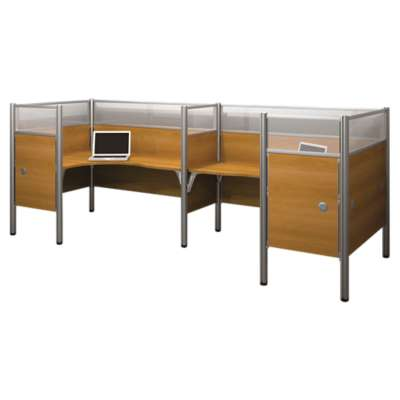 Picture for Pro Biz Enclosed Double Back To Back Workstation by Bestar