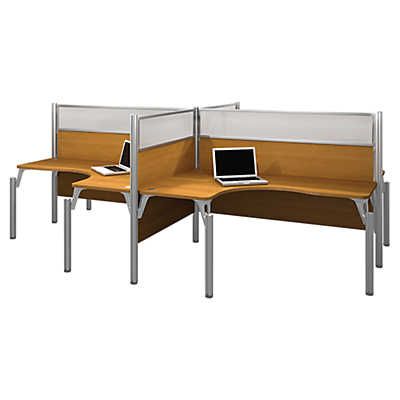 pro biz high top 4 desk workstation by bestar smartfurniture smart furniture