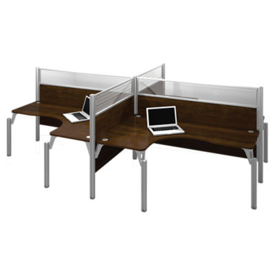 Picture of Pro Biz High Top 4-Desk Workstation by Bestar