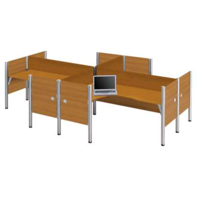 Picture for Pro Biz Enclosed 4-Desk Workstation by Bestar