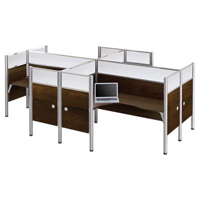 Pro Biz High Top Enclosed Desk Workstation Smart Furniture - High top office table