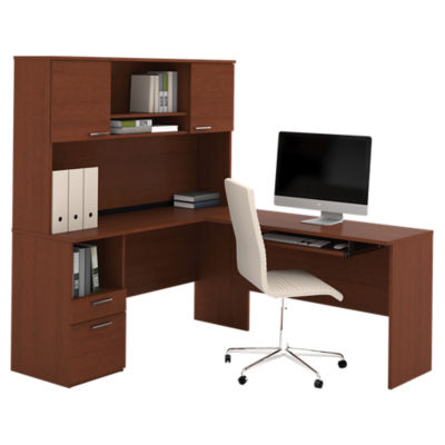 Picture of Flare L-Shaped Desk with Storage by Bestar