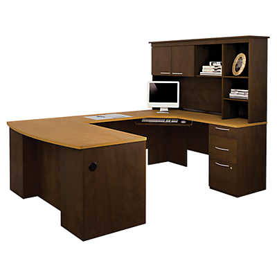 hatley ushaped desk with hutch by bestar