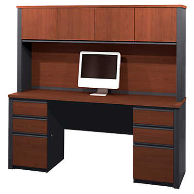 Picture of Prestige Plus Credenza with Hutch by Bestar