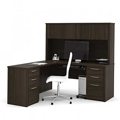 Picture of Embassy L-Shaped Desk with Full Storage by Bestar
