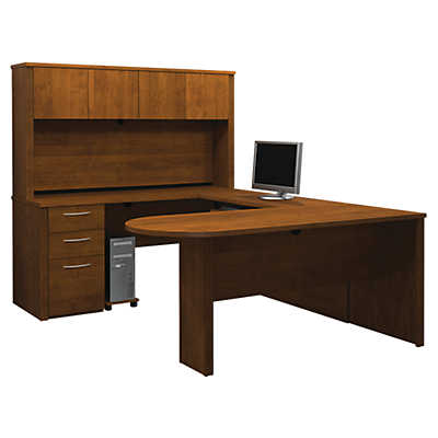 Picture of Embassy U-Shaped Desk with Peninsula Table by Bestar