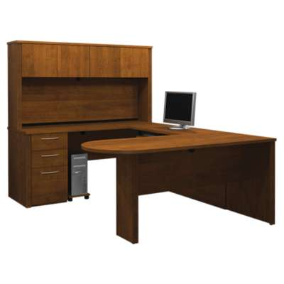 Picture for Embassy U-Shaped Desk with Peninsula Table by Bestar