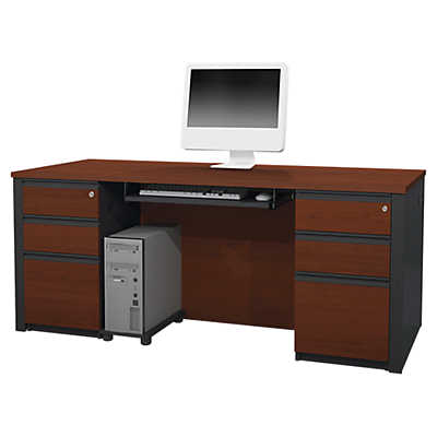 Picture of Prestige Plus Two-Pedestal Desk by Bestar