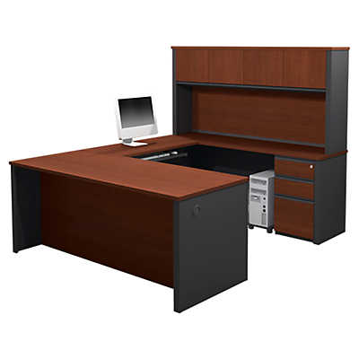 Picture of Slimline U-Shaped Workstation with Hutch