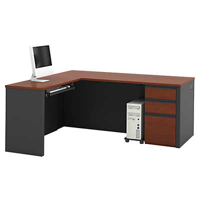 Picture of Slimline L-Shaped Desk with Pedestal