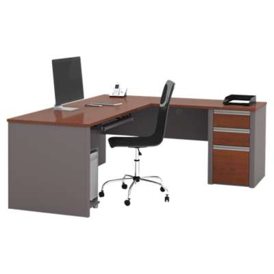 Picture for Connexion L-Shaped Workstation Kit with One Pedestal by Bestar