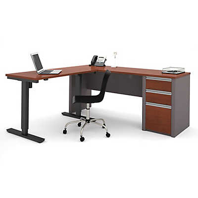 Connexion L Desk with Electric Height Adjustable Table by