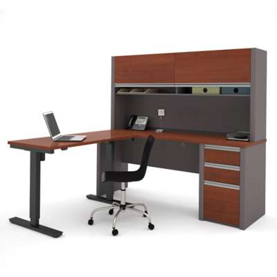 Picture for Connexion L-Desk with Hutch and Height Adjustable Table by Bestar