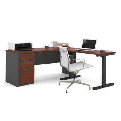 Picture for Prestige + L-Desk with Electric Height Adjustable Table by Bestar