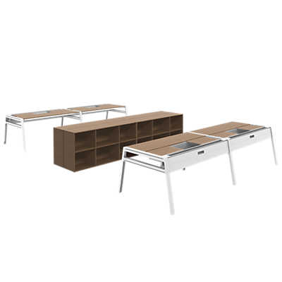 picture of turnstone bivi office for four by steelcase bivi modular office furniture