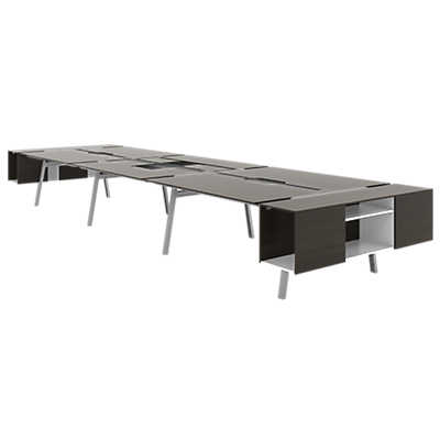 picture of turnstone bivi shared table for six by steelcase bivi modular office furniture