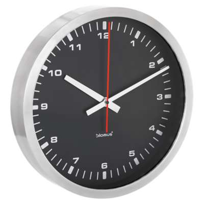 Picture for Era Large Black Wall Clock by Blomus