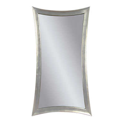 Picture of Silver Hour Glass Leaning Mirror