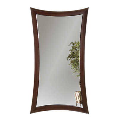 Picture of Merlot Hour Glass Leaning Mirror