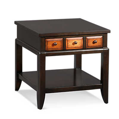 Picture of Posh Rectangle End Table with Drawers