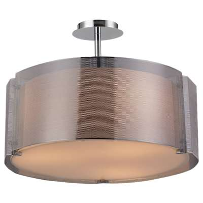 Picture for Lynch Chrome Drum Pendant by Bromi Design