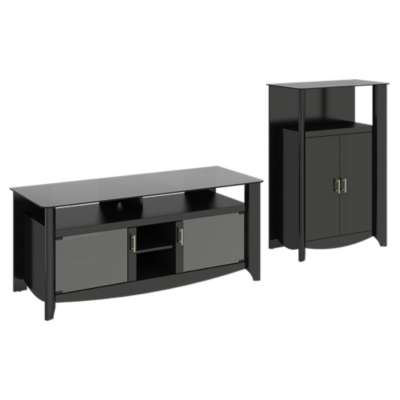 "Picture for Aero 56"" TV Stand and Medium Library Storage"