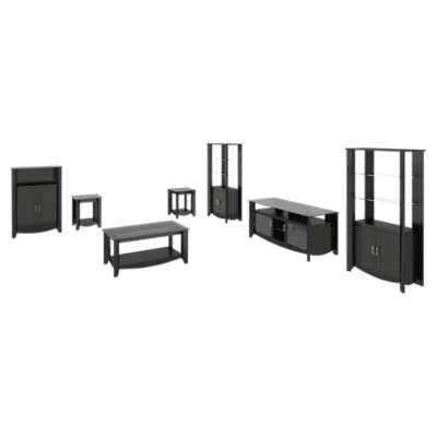 "Picture for Aero 56"" TV Stand with Library Storage Set and Table Set"