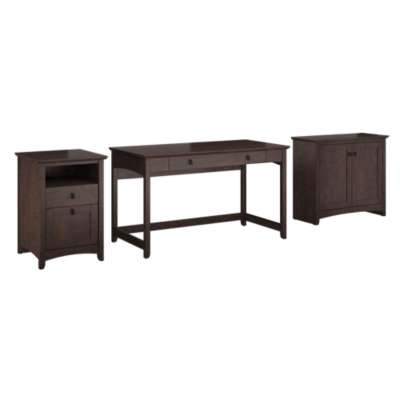 Picture for Buena Vista Writing Desk with Low Storage and 2-Drawer Pedestal