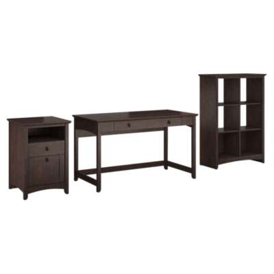 Picture for Buena Vista Writing Desk with 6-Cube Storage and 2-Drawer Pedestal