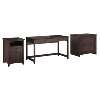 Picture for Buena Vista Writing Desk with Lateral File and 2-Drawer Pedestal