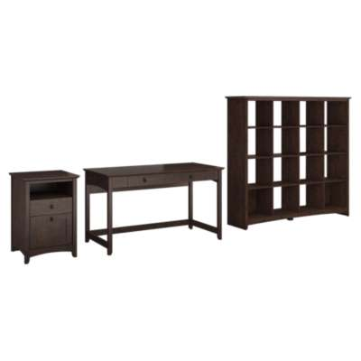 Picture for Buena Vista Writing Desk with 2-Drawer Pedestal and Bookcase