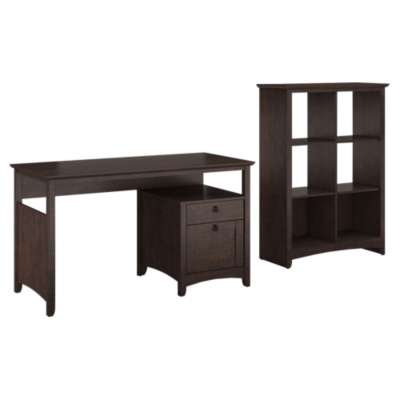 Picture for Buena Vista Single Pedestal Desk and 6-Cube Storage