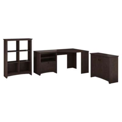 Picture for Buena Vista Corner Desk with 6-Cube Storage and Lateral File