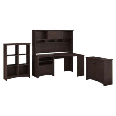 Picture for Buena Vista Corner Desk with Hutch, Low Storage and 6-Cube Storage