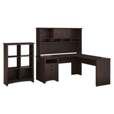 Picture for Buena Vista L-Desk with Hutch and 6-Cube Storage