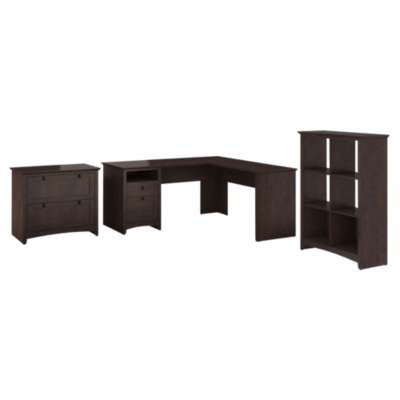 Picture for Buena Vista L-Desk with 6-Cube Storage and Lateral File