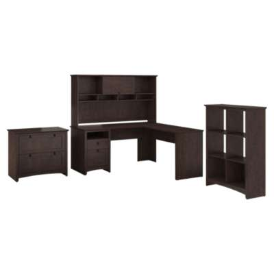 Picture for Buena Vista L-Desk with Hutch, 6-Cube Storage and Lateral File