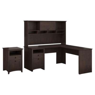 Picture for Buena Vista L-Desk with Hutch and 2-Drawer Pedestal