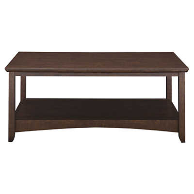brandt round coffee table with drawer and shelf | smart furniture