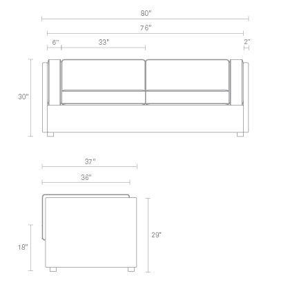 Bank Sleeper Sofa Dimensions