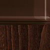 Request Free Frosted Coffee Top/ Wenge Wood Base Swatch for the New Smart Extending Table by Connubia