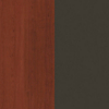 Request Free Bordeaux and Graphite Swatch for the Prestige + L-Desk with Hutch and Height Adjustable Table by Bestar