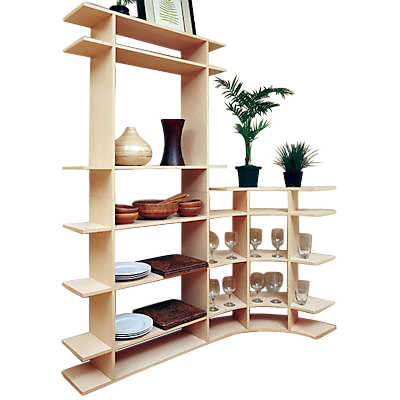 Picture of 6' Tall Dining Room Contour Shelf by Smart Furniture