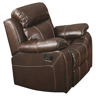 Picture of Myleene Leather Glider Recliner by Coaster