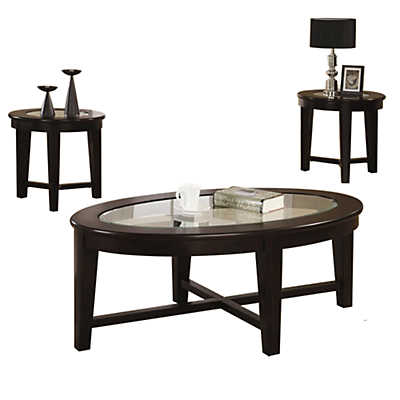 Picture of Racetrack 3 Piece Occasional Table Set by Coaster