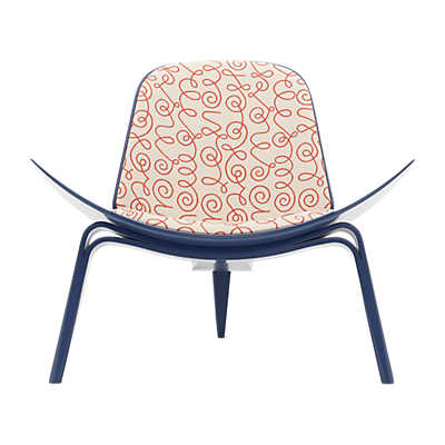 Picture of Maharam Names Shell Chair